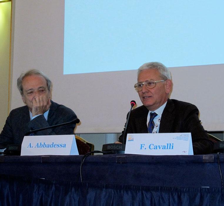 Proff. Franco Cavalli (Bellinzona, Svizzera) e Antonio Abbadessa (Napoli, Caserta)