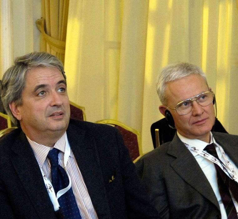 Proff. Riccardo Dalla Favera (New York, USA) e Antonio Abbadessa (Napoli, Caserta)