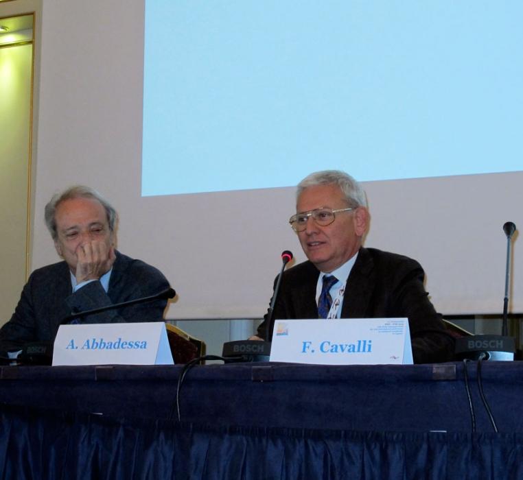 Prof. Franco Cavalli, Direttore  Istituto Oncologico  Svizzera Italiana, relatore su invito del Prof. Abbadessa
